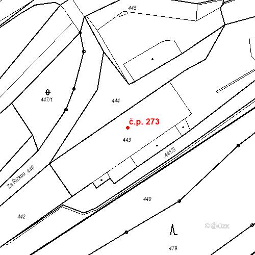 Katastrální mapa Stavební objekt Proseč nad Nisou 273, Jablonec nad Nisou