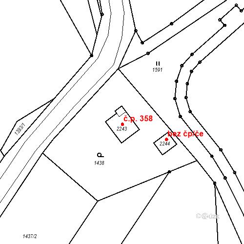 Katastrální mapa Stavební objekt Humpolec 358, Humpolec
