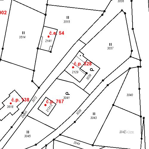 Katastrální mapa Stavební objekt Rychnov u Jablonce nad Nisou 328, Rychnov u Jablonce nad Nisou