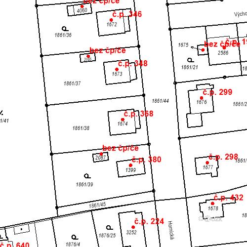 Katastrální mapa Stavební objekt Humpolec 368, Humpolec