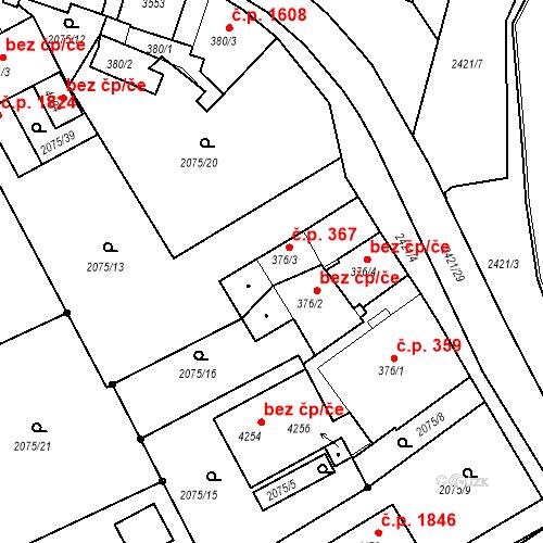 Katastrální mapa Stavební objekt Humpolec 367, Humpolec