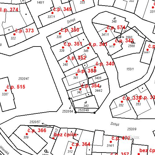 Katastrální mapa Stavební objekt Humpolec 353, Humpolec