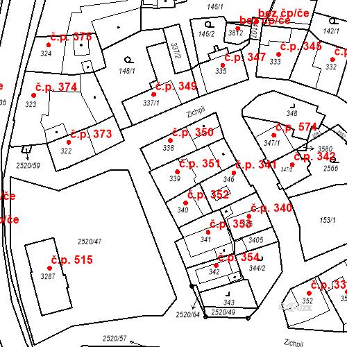 Katastrální mapa Stavební objekt Humpolec 351, Humpolec