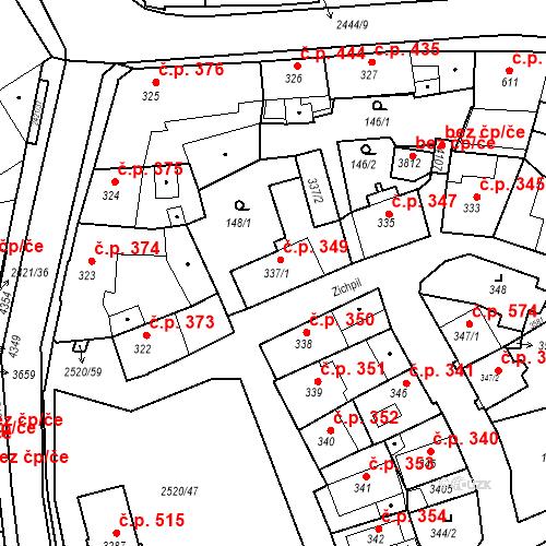 Katastrální mapa Stavební objekt Humpolec 349, Humpolec