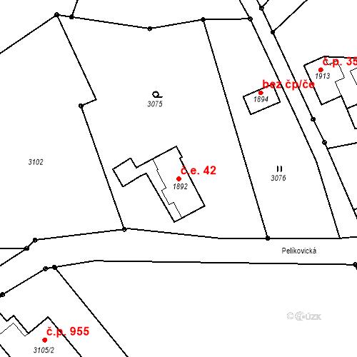 Katastrální mapa Stavební objekt Rychnov u Jablonce nad Nisou 42, Rychnov u Jablonce nad Nisou