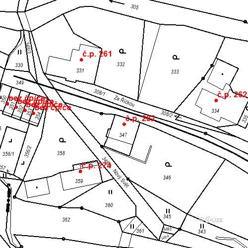 Katastrální mapa Stavební objekt Proseč nad Nisou 282, Jablonec nad Nisou