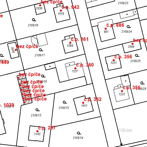 Katastrální mapa Stavební objekt Humpolec 360, Humpolec