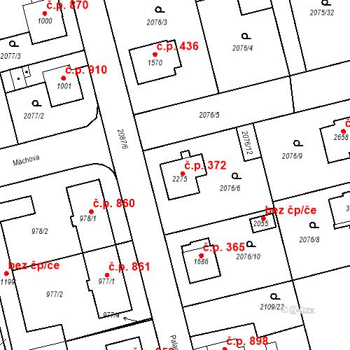 Katastrální mapa Stavební objekt Humpolec 372, Humpolec