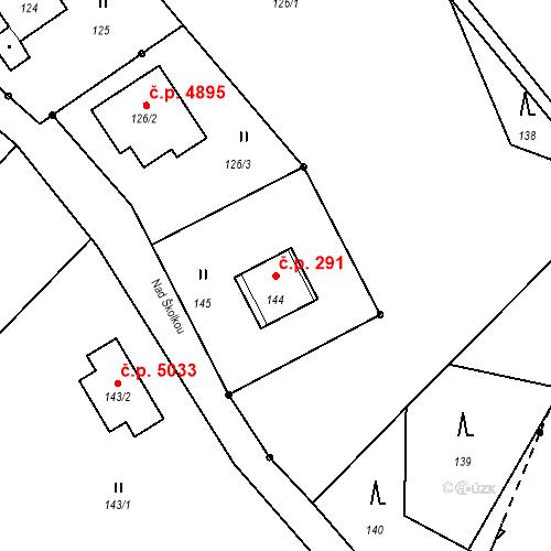 Katastrální mapa Stavební objekt Proseč nad Nisou 291, Jablonec nad Nisou