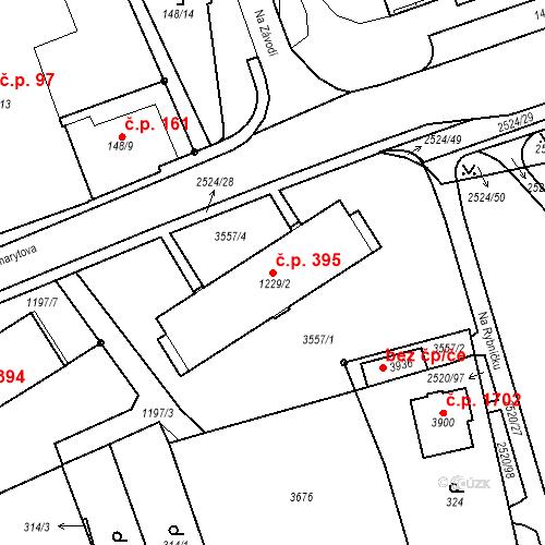 Katastrální mapa Stavební objekt Humpolec 395, Humpolec