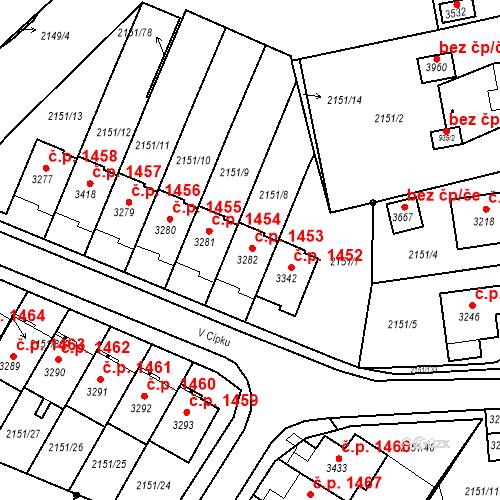 Katastrální mapa Stavební objekt Humpolec 1453, Humpolec