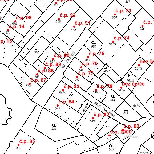 Katastrální mapa Stavební objekt Frýdlant 77, Frýdlant