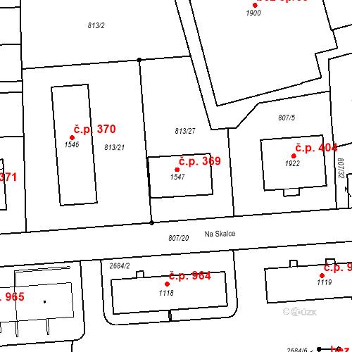 Katastrální mapa Stavební objekt Humpolec 369, Humpolec
