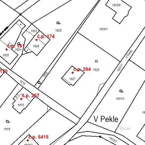 Katastrální mapa Stavební objekt Proseč nad Nisou 294, Jablonec nad Nisou