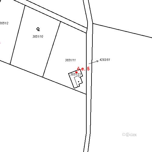 Katastrální mapa Stavební objekt Vrchlice 5, Kutná Hora