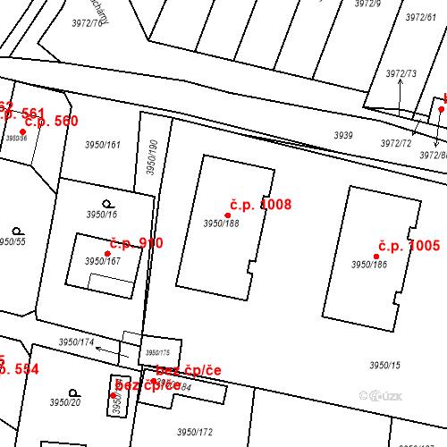 Katastrální mapa Stavební objekt Žižkov 1008, Kutná Hora