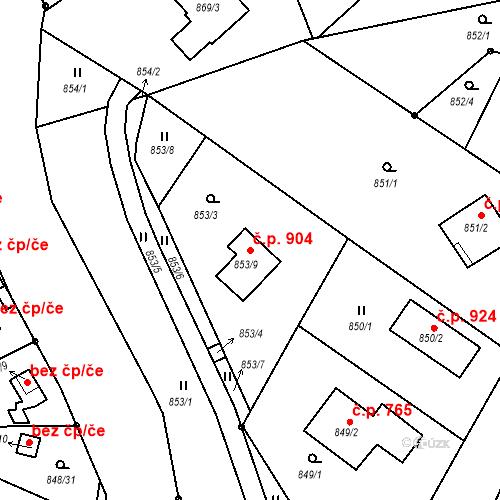 Katastrální mapa Stavební objekt Liberec XIV-Ruprechtice 904, Liberec
