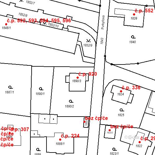Katastrální mapa Stavební objekt Liberec XIV-Ruprechtice 920, Liberec