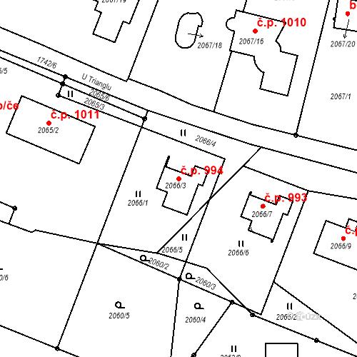 Katastrální mapa Stavební objekt Liberec XIV-Ruprechtice 994, Liberec