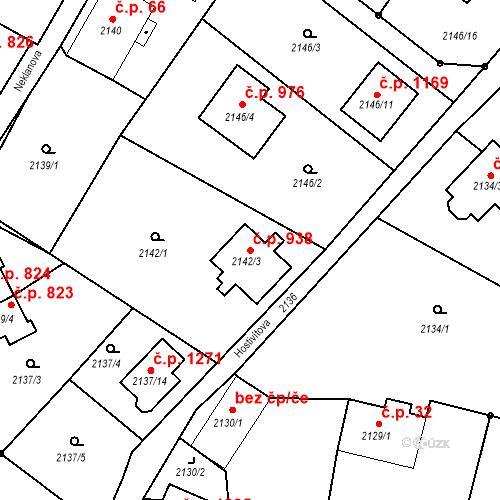 Katastrální mapa Stavební objekt Liberec XIV-Ruprechtice 938, Liberec