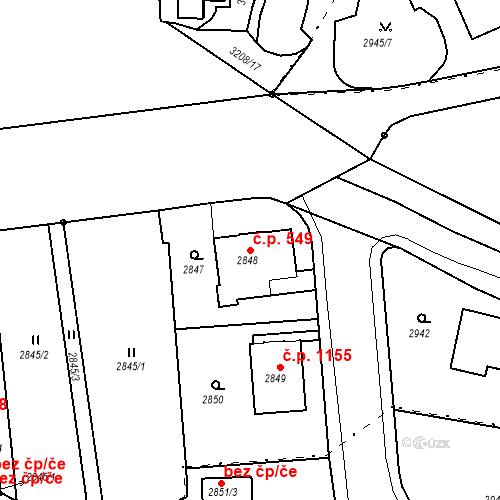 Katastrální mapa Stavební objekt Liberec I-Staré Město 549, Liberec