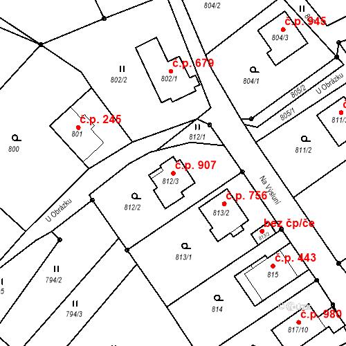 Katastrální mapa Stavební objekt Liberec XIV-Ruprechtice 907, Liberec