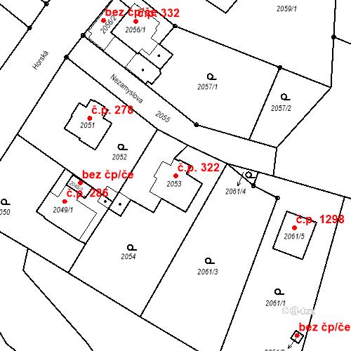 Katastrální mapa Stavební objekt Liberec XIV-Ruprechtice 322, Liberec