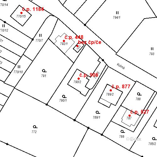 Katastrální mapa Stavební objekt Liberec XIV-Ruprechtice 906, Liberec