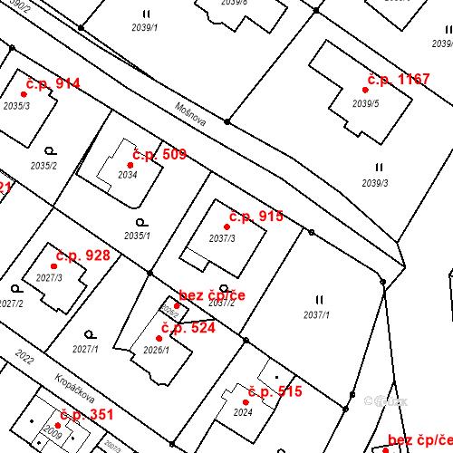 Katastrální mapa Stavební objekt Liberec XIV-Ruprechtice 915, Liberec