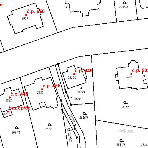 Katastrální mapa Stavební objekt Liberec I-Staré Město 449, Liberec