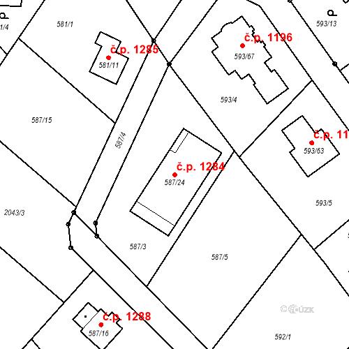 Katastrální mapa Stavební objekt Liberec XIV-Ruprechtice 1284, Liberec