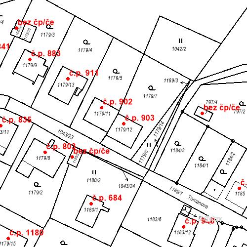 Katastrální mapa Stavební objekt Liberec XIV-Ruprechtice 903, Liberec