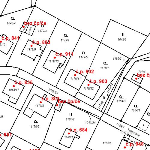 Katastrální mapa Stavební objekt Liberec XIV-Ruprechtice 902, Liberec