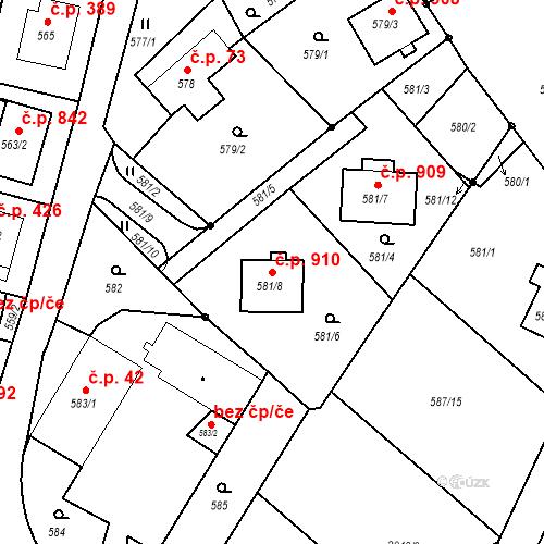 Katastrální mapa Stavební objekt Liberec XIV-Ruprechtice 910, Liberec