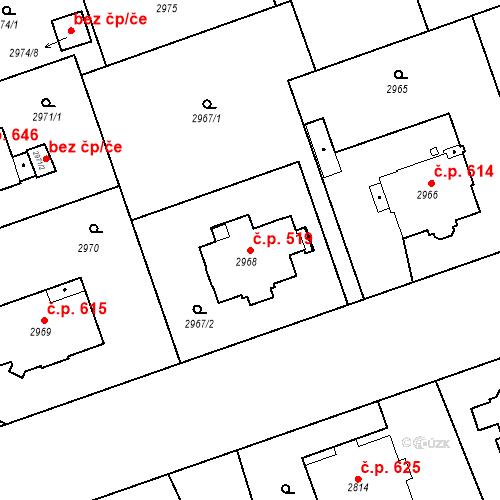 Katastrální mapa Stavební objekt Liberec I-Staré Město 519, Liberec