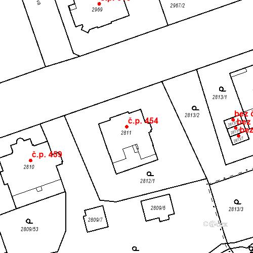 Katastrální mapa Stavební objekt Liberec I-Staré Město 454, Liberec