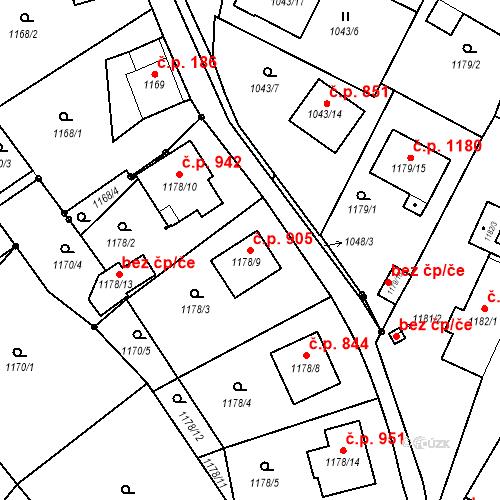 Katastrální mapa Stavební objekt Liberec XIV-Ruprechtice 905, Liberec