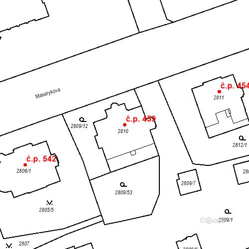 Katastrální mapa Stavební objekt Liberec I-Staré Město 459, Liberec