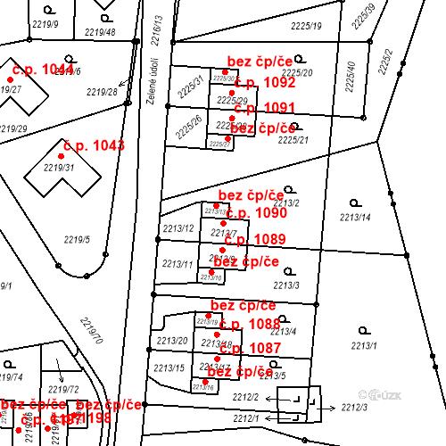 Katastrální mapa Stavební objekt Liberec VI-Rochlice 1090, Liberec