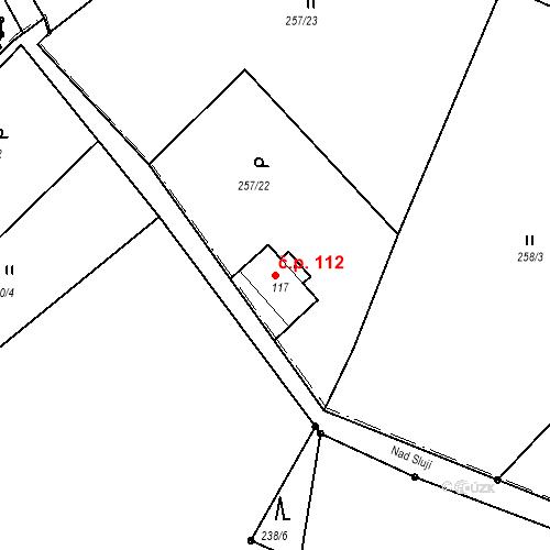 Katastrální mapa Stavební objekt Liberec XXXII-Radčice 112, Liberec