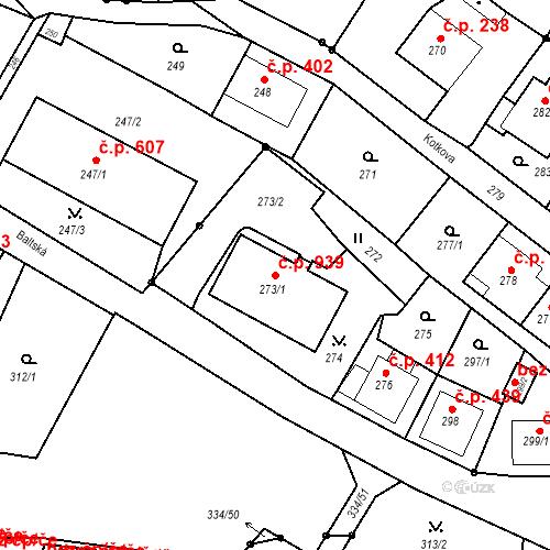 Katastrální mapa Stavební objekt Liberec XIV-Ruprechtice 939, Liberec
