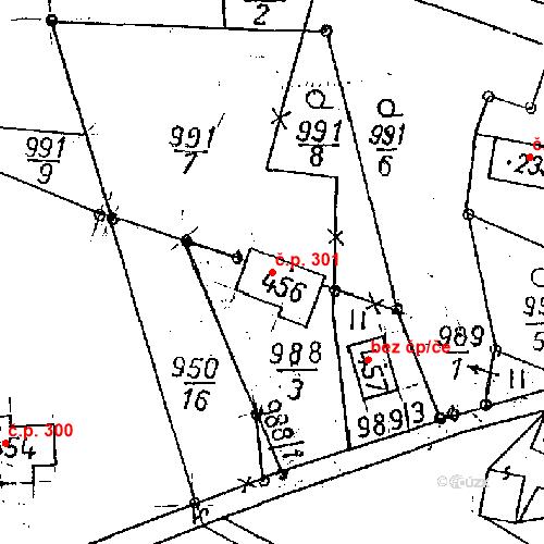 Katastrální mapa Stavební objekt Jeřmanice 301, Jeřmanice