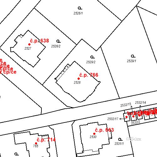 Katastrální mapa Stavební objekt Liberec I-Staré Město 766, Liberec