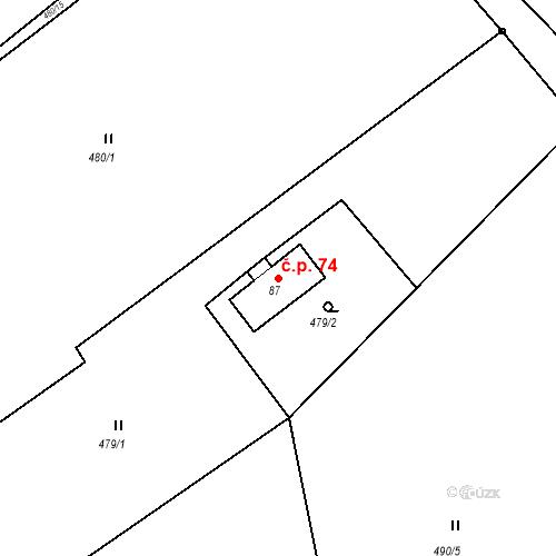 Katastrální mapa Stavební objekt Liberec XXXII-Radčice 74, Liberec