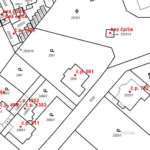 Katastrální mapa Stavební objekt Liberec I-Staré Město 561, Liberec