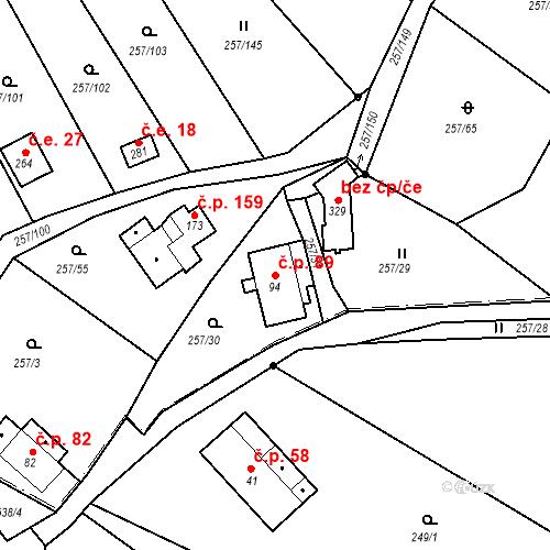 Katastrální mapa Stavební objekt Liberec XXXII-Radčice 89, Liberec