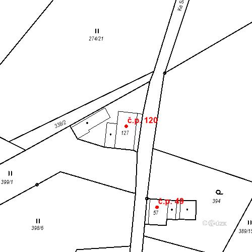 Katastrální mapa Stavební objekt Liberec XXXII-Radčice 120, Liberec