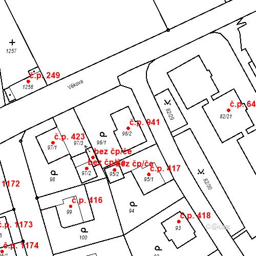 Katastrální mapa Stavební objekt Liberec XIV-Ruprechtice 941, Liberec