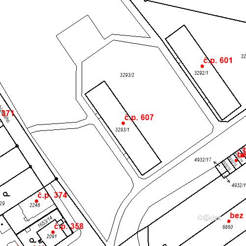 Katastrální mapa Stavební objekt Kolín IV 607, Kolín