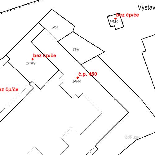 Katastrální mapa Stavební objekt Liberec I-Staré Město 460, Liberec